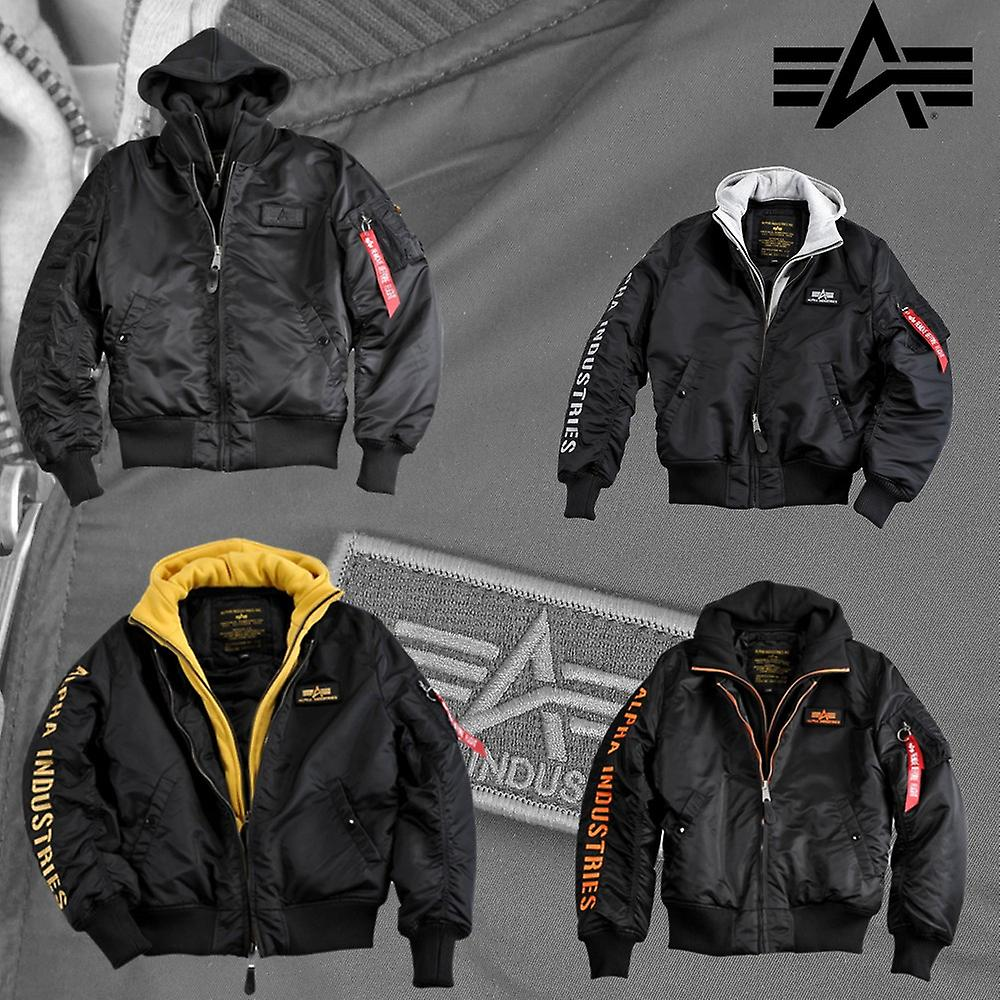 Alpha Industries Bomber Jacke MA 1 D Tec SE schwarz schwarz