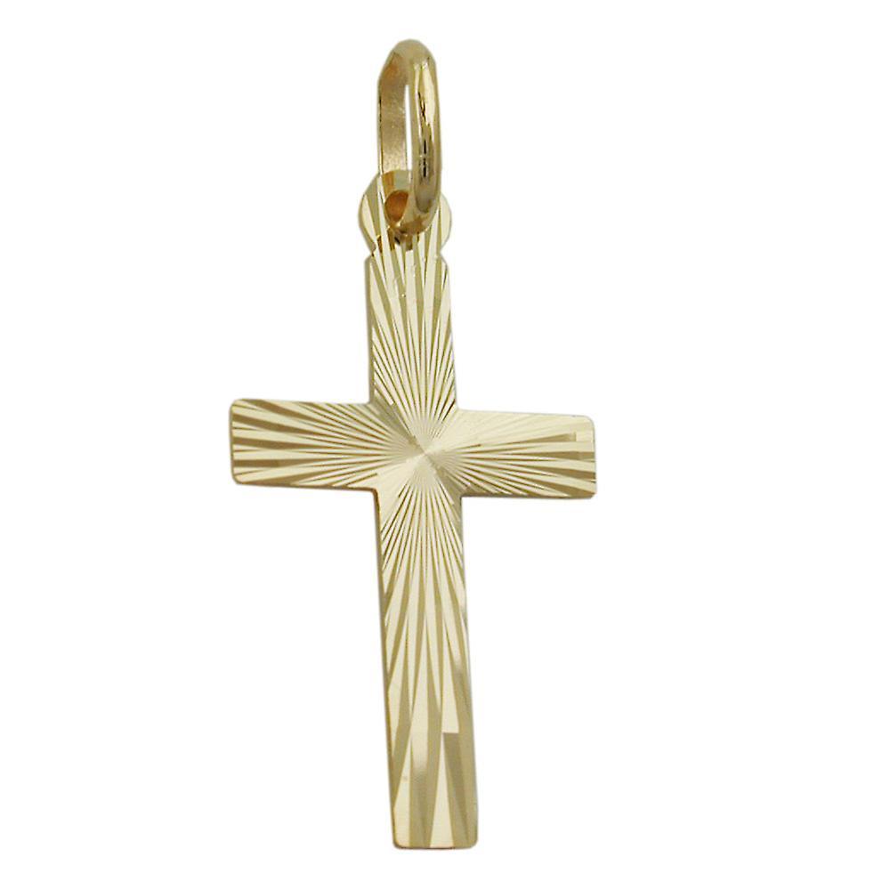 Kreuzanhnger Hochzeit Kommunion Firmung Anhnger Kreuz Diamant 9 Kt GOLD 375