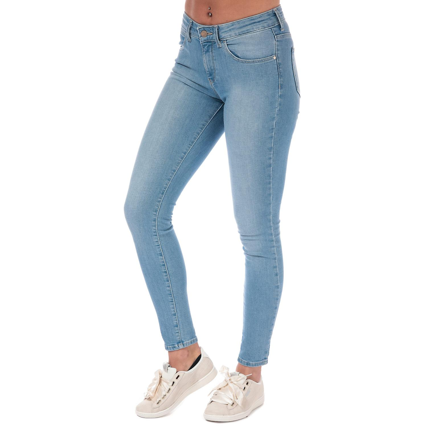 Womens Wrangler Body Bespoke Skinny Jeans In Blue Light