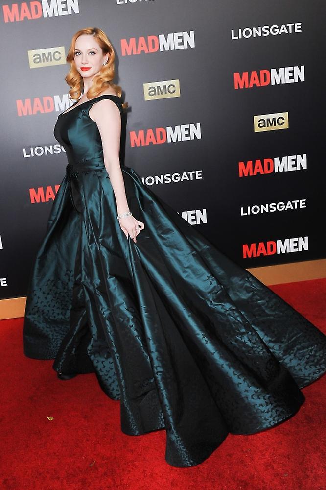 02b0927fe31d Christina Hendricks At Arrivals For Mad Men & Amc Present The Black & Red  Ball The