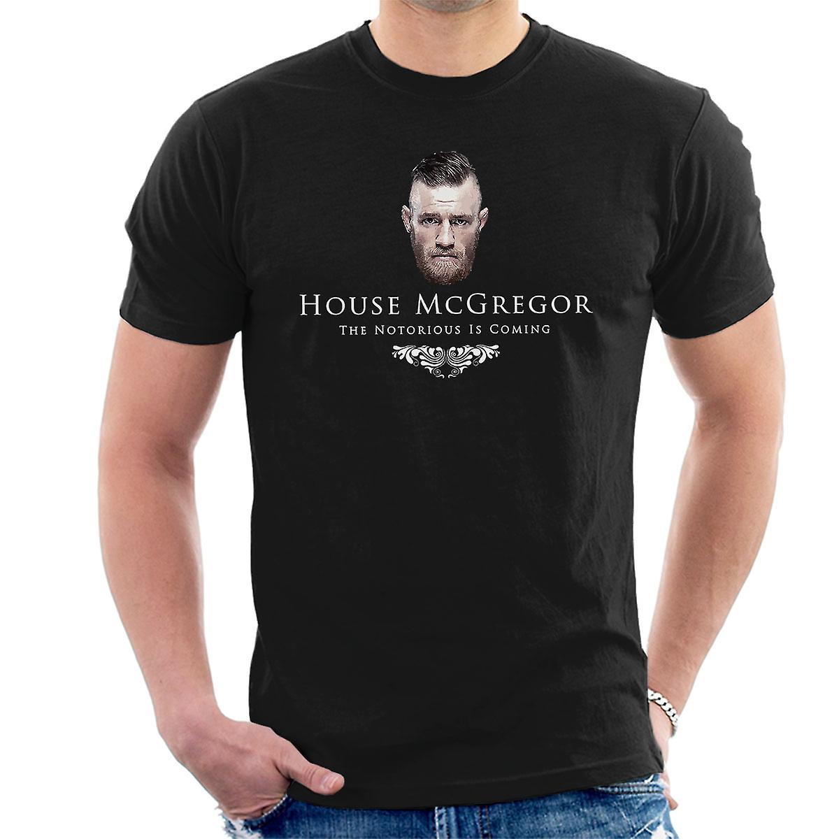 493e6a1895edd House Conor McGregor Notorious Is Coming Men's T-Shirt