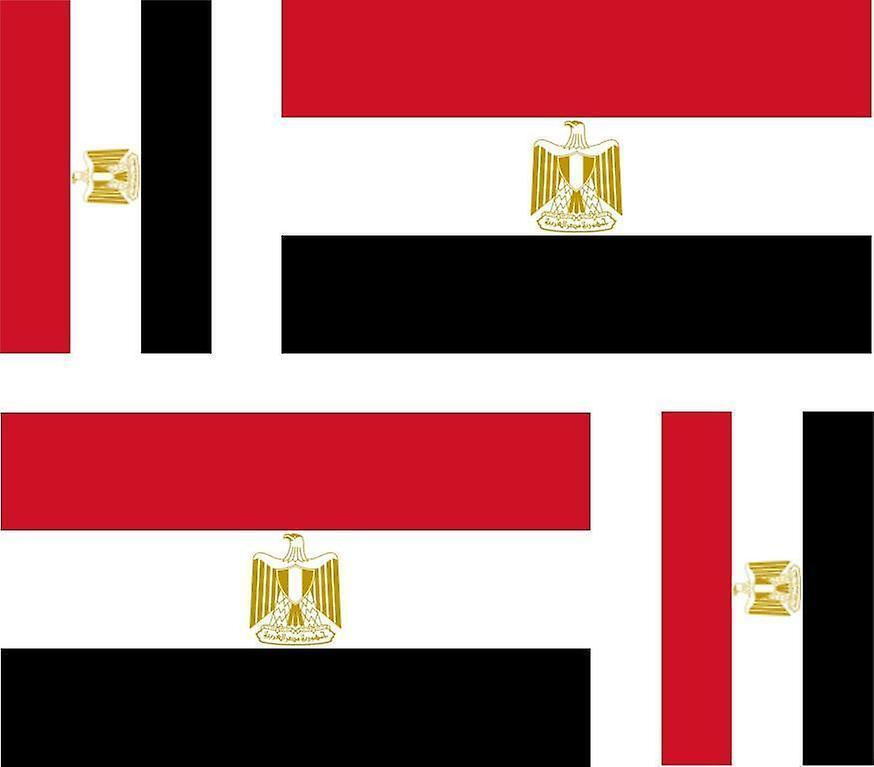 4 X klistermærke klistermærke mærkat bil motorcykel valise PC Portable flag egyptiske Egypten