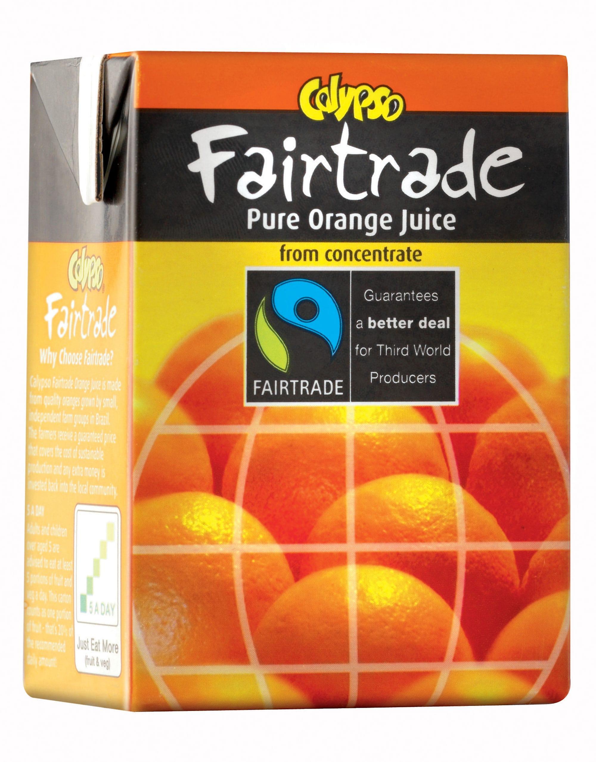 Calypso Fairtrade Orange Fruit Juice Cartons