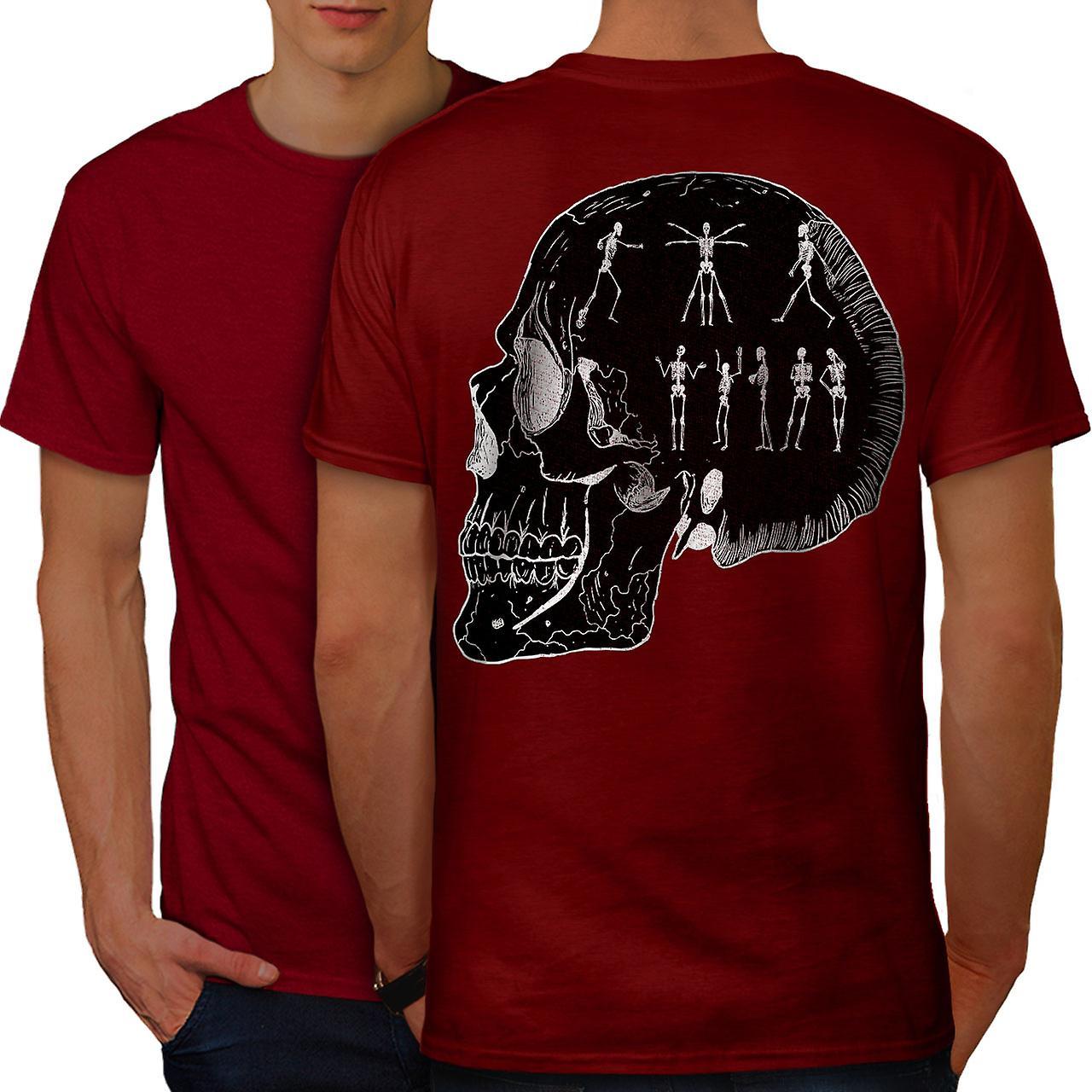6452ffc3c120b4 Party Skelett coole Männer RedT-Hemd zurück