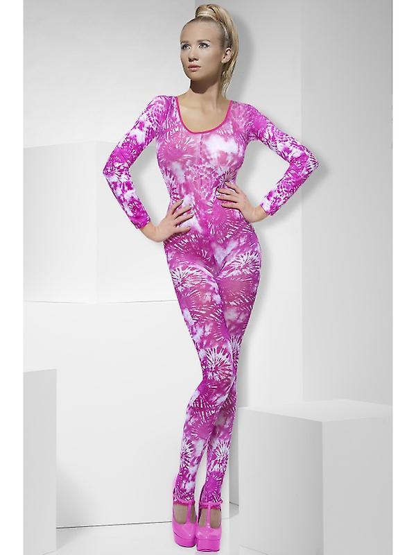 new concept c7083 85662 Catsuit sexy Stretchanzug Dessous pink halbtransparent Ganzkörper