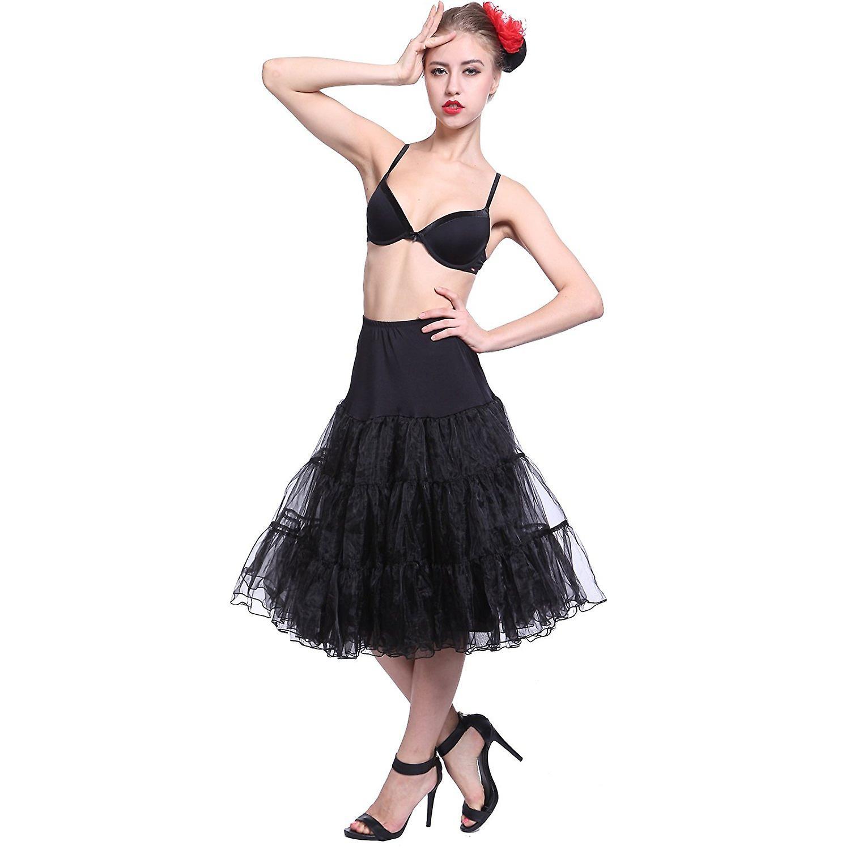 e60d6492d0bb Boolavard 50s Vintage Rockabilly underkjol kjol, 26-tums längd netto  underkjol