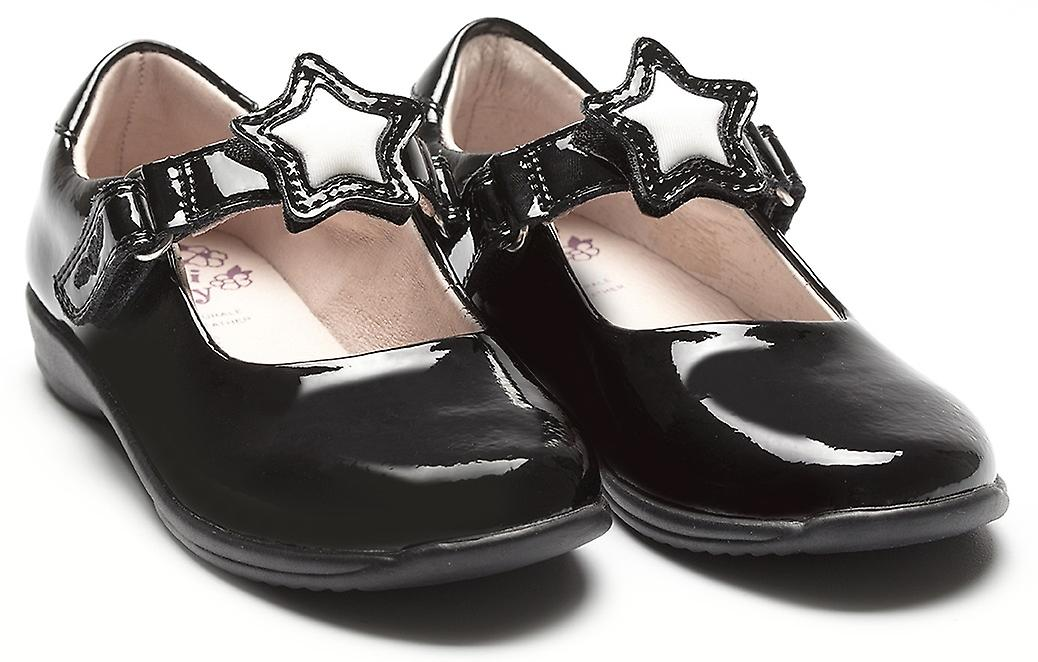 0280ac66 Lelli Kelly Colourissima Star Changeable Strap Black Patent School Shoes