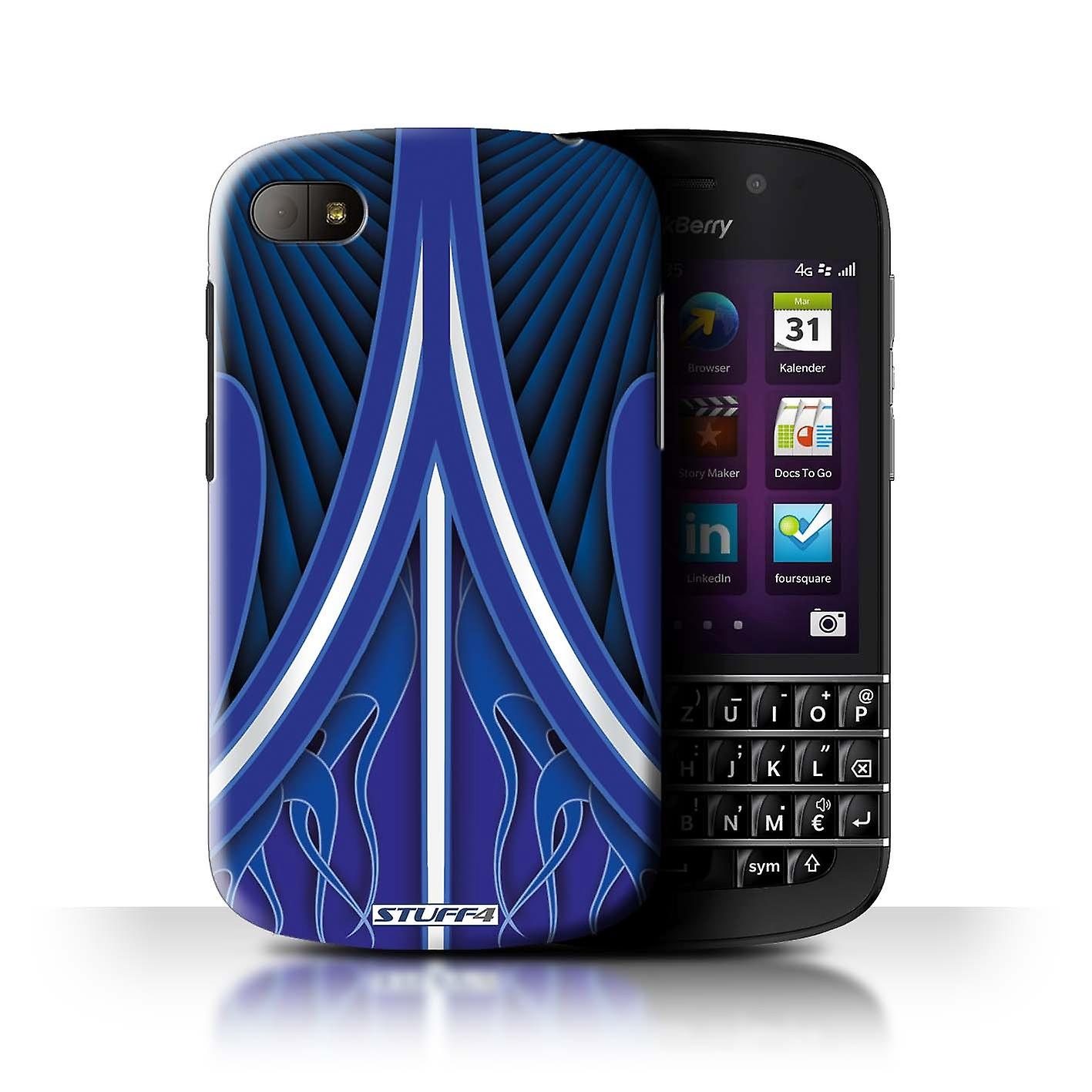 Stuff4 Case Cover For Blackberry Q10 Blue White Custom Paint Job