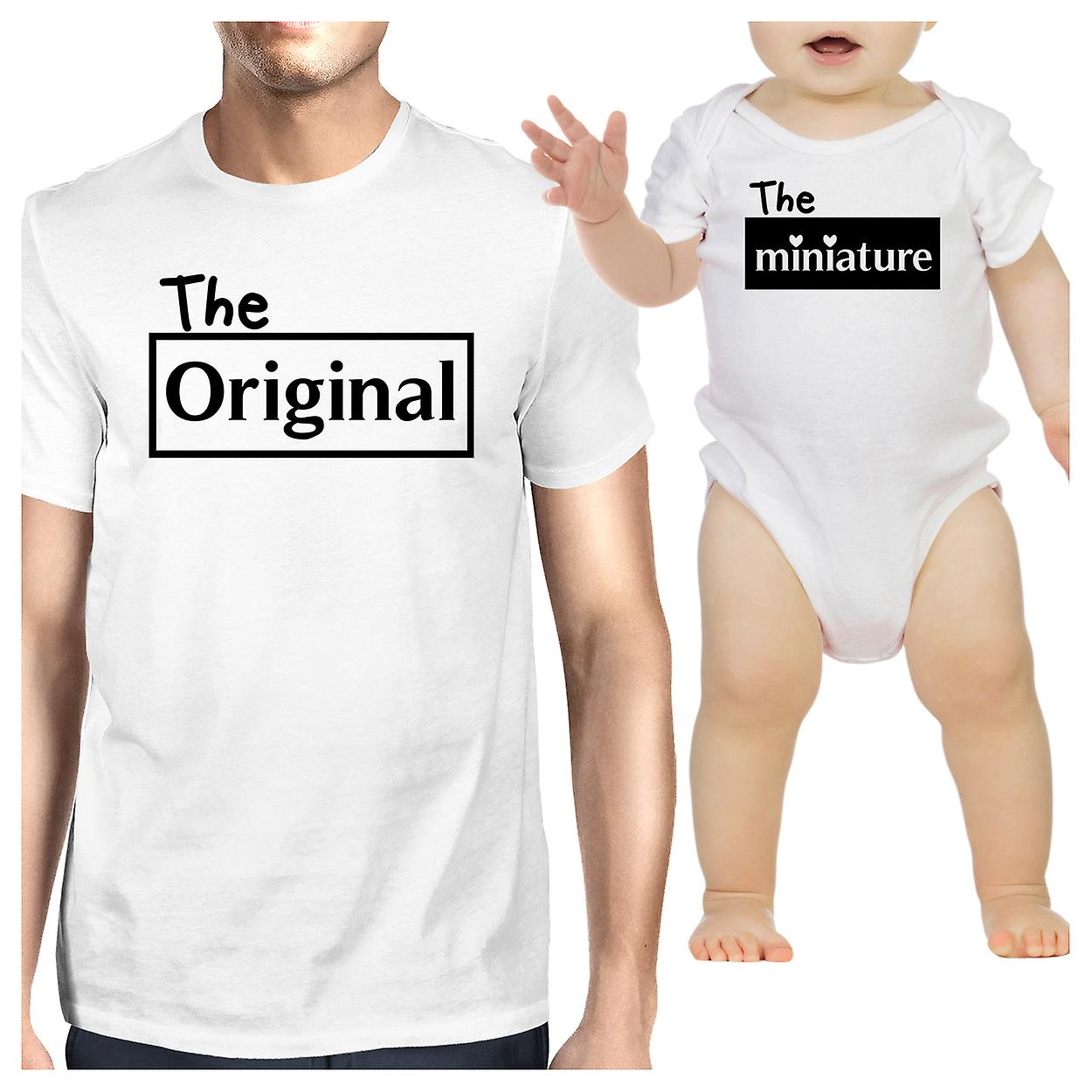 fe88db81 Original And Mini Cute Dad Baby Boy Shirts Funny Fathers Day Gifts ...