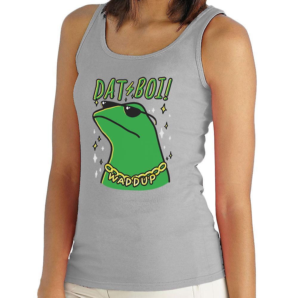 Dat Boi Waddup Green Frog Twitter Meme Women's Vest   Fruugo
