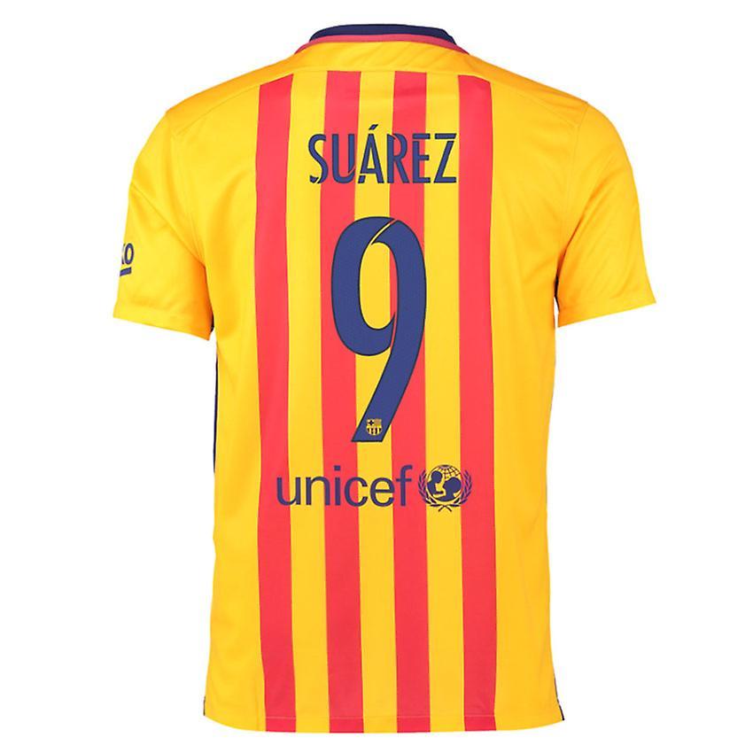 707f79b9 2015-16 Barcelona Away Shirt (Suarez 9) | Fruugo