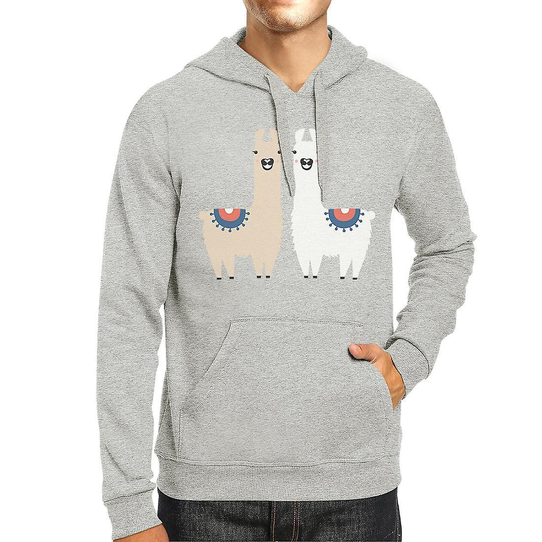 new style 0c50c d344c Lama Muster grauen Pullover Herren/Unisex Fleece Hoodie