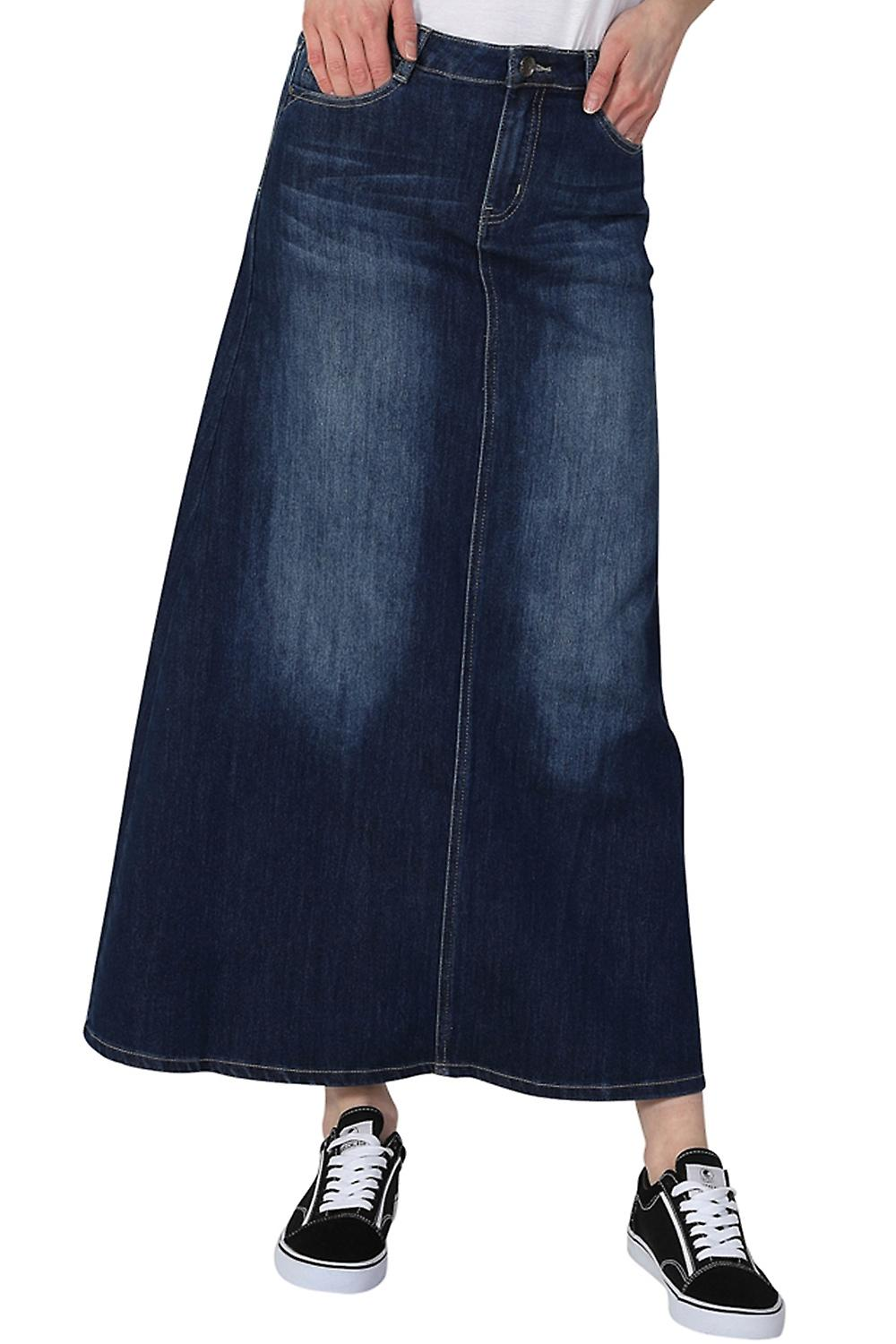 26c9a3ba79 Full Length Denim Skirt | Huston Fislar Photography