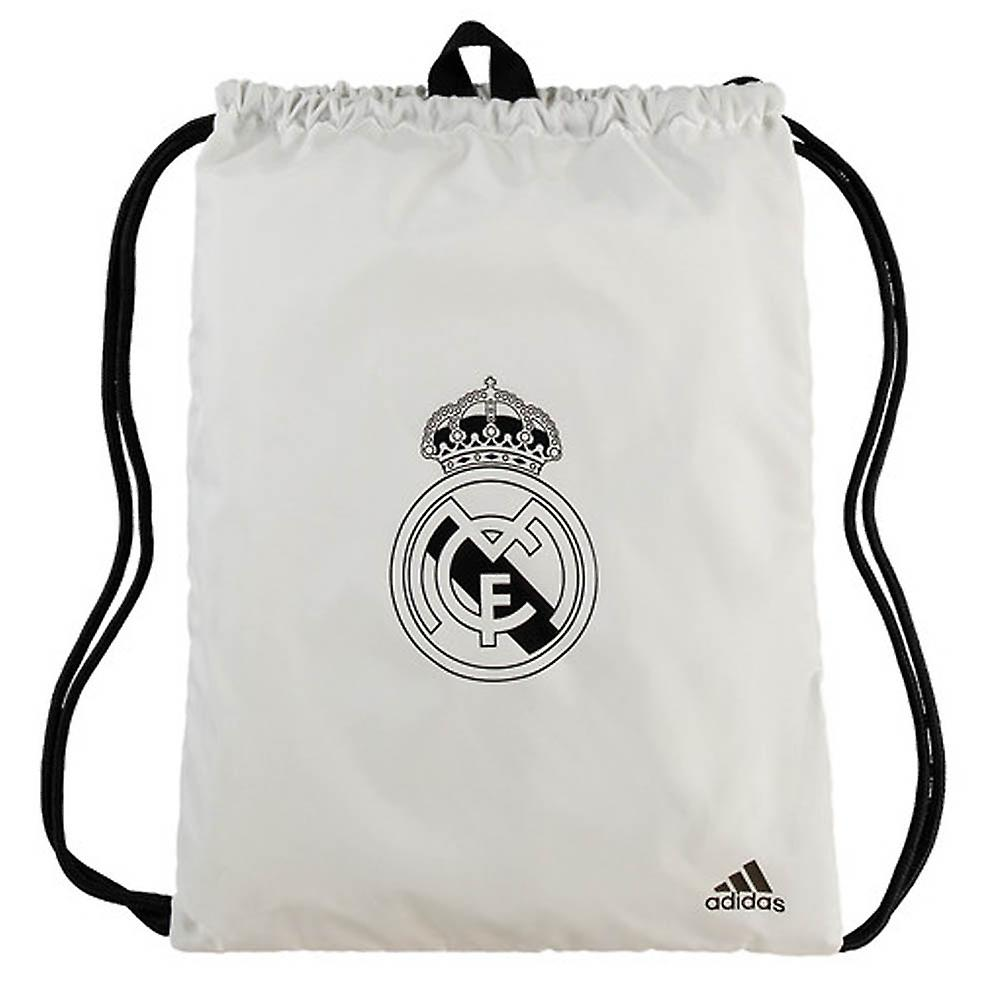 d33bb202e7b 2018-2019 Real Madrid Adidas Gym Bag (White) | Fruugo