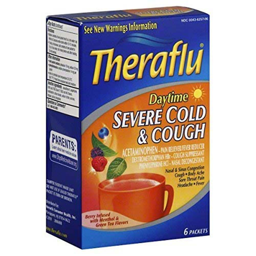 Theraflu Severe Cold Cough Daytime Packets 6 Ea