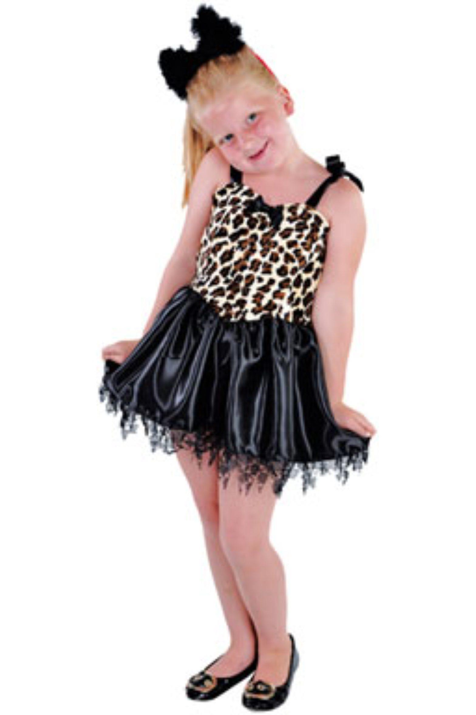 Kjole i leopard style 1182