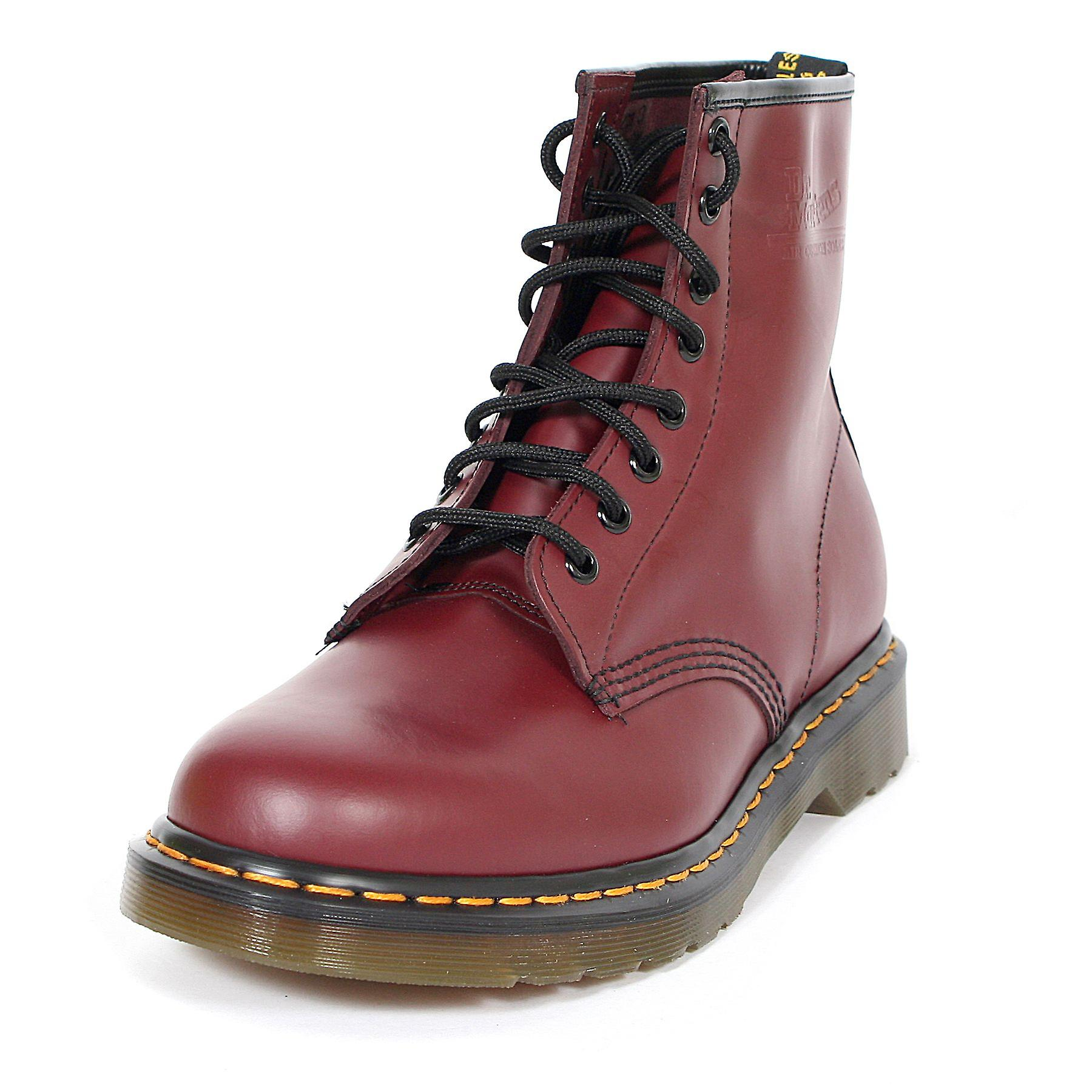 62d51f766f66 Dr Martens Unisex 1460 8 Eyelet Smooth Leather Lace-Up Boot Cherry ...