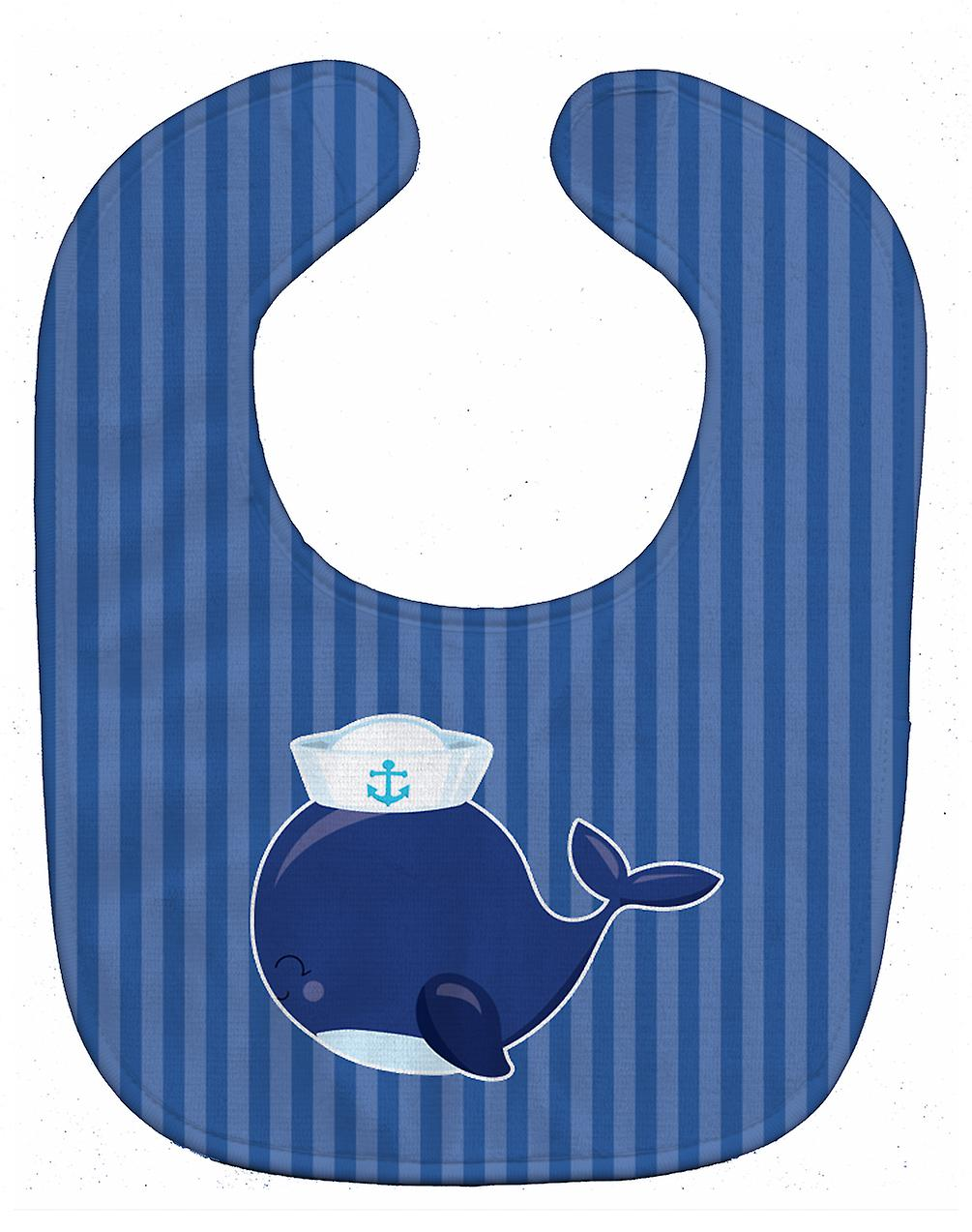 carolines treasures bb8884bib nautical whale blue baby bib f