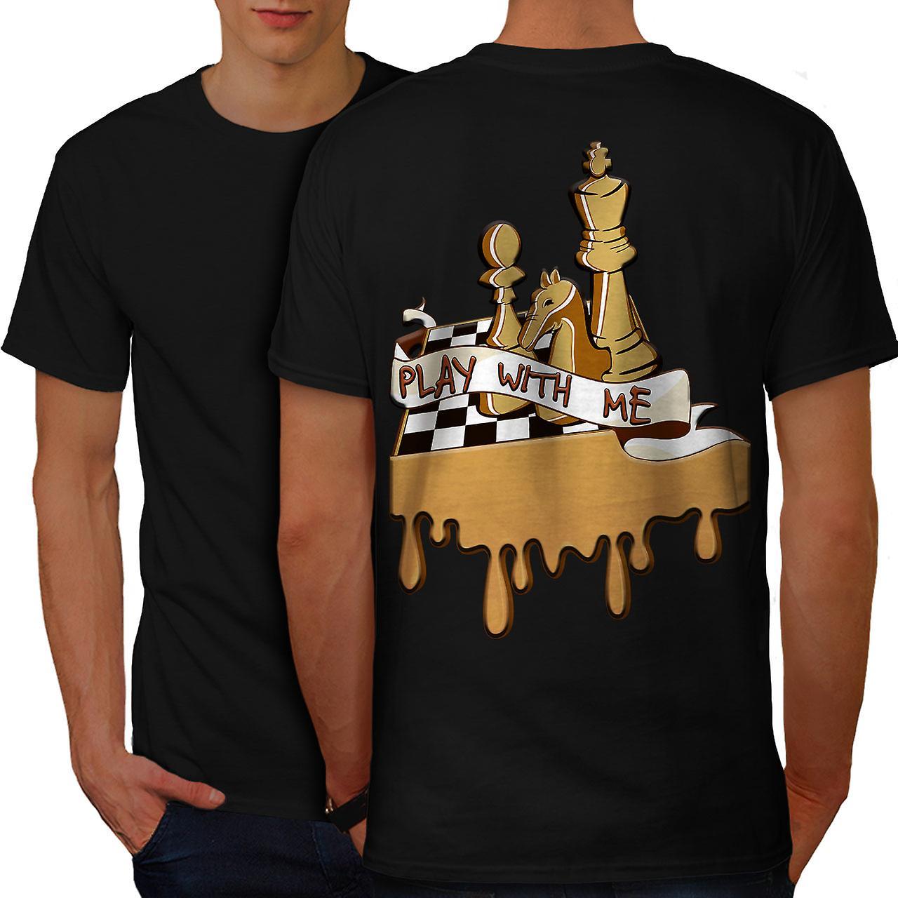 de61c6bd3 Play Chess With Me Men BlackT-shirt Back   Wellcoda   Fruugo