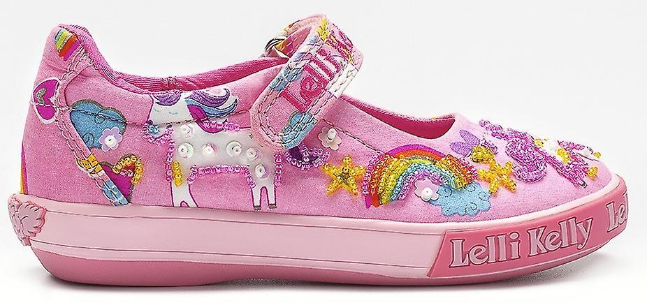 c17fb96c Lelli Kelly Girls Unicorn LK9050 Pink Canvas Shoes | Fruugo