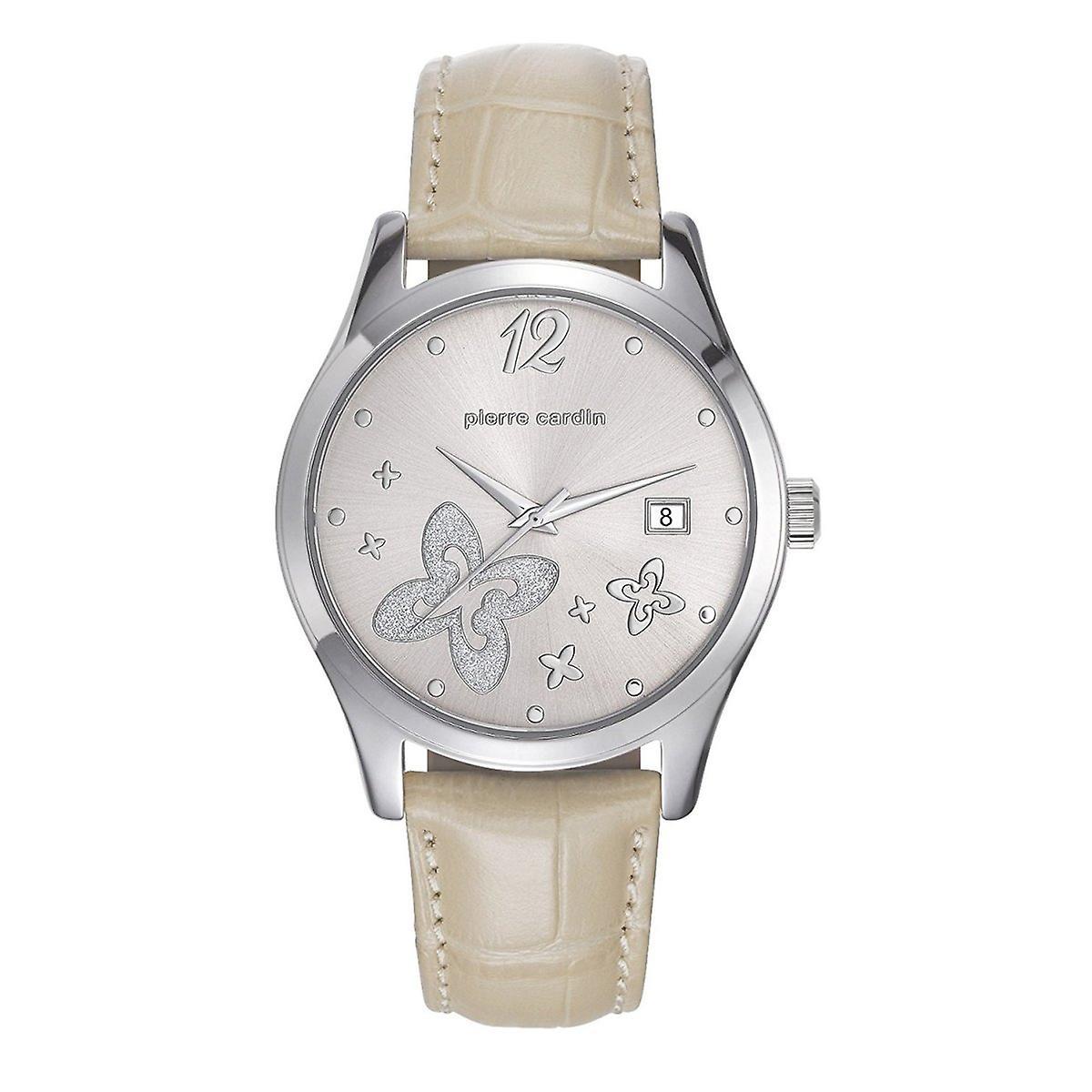 info pour e1a87 305a1 Pierre Cardin Black watch cuir montre-bracelet PC107732F02