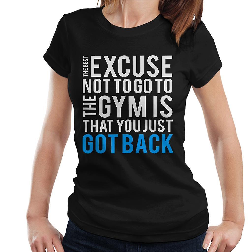0d90b6c5cda276 Najlepsze wymówki, aby nie iść do kobiet siłownia Koszulka | Fruugo