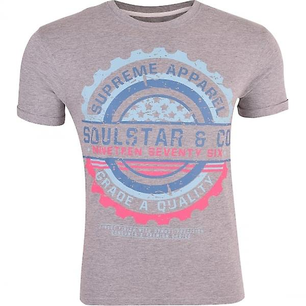 4a002b8d66c Soul Star Men s Printed Graphic Short Sleeved Crew Neck Soft Cotton T Shirts