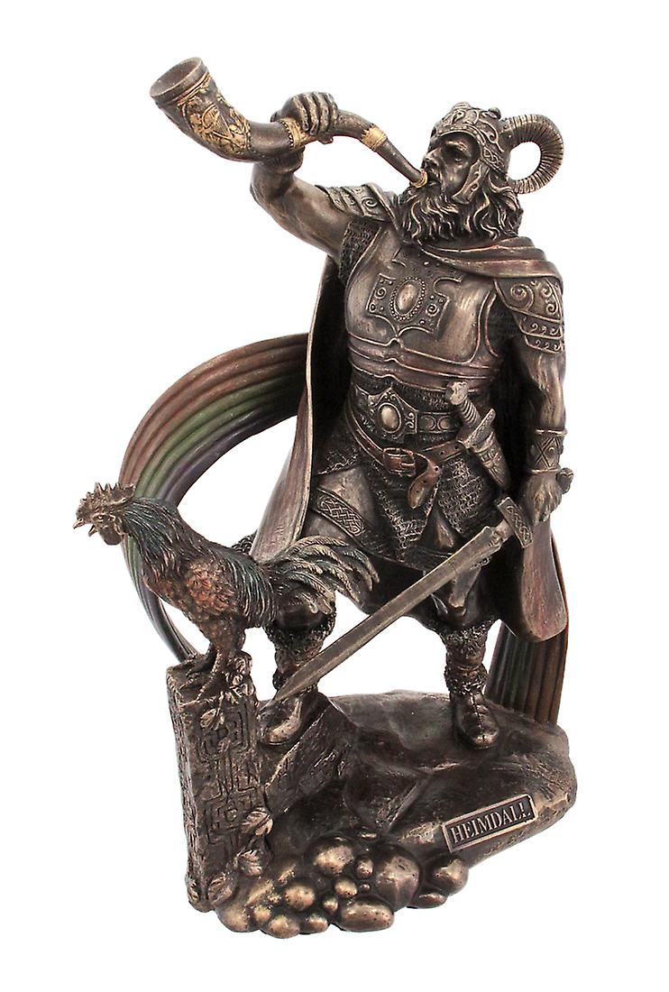 9 12 tommers norrøne Gud Heimdall garvede Finish Statue Pagan