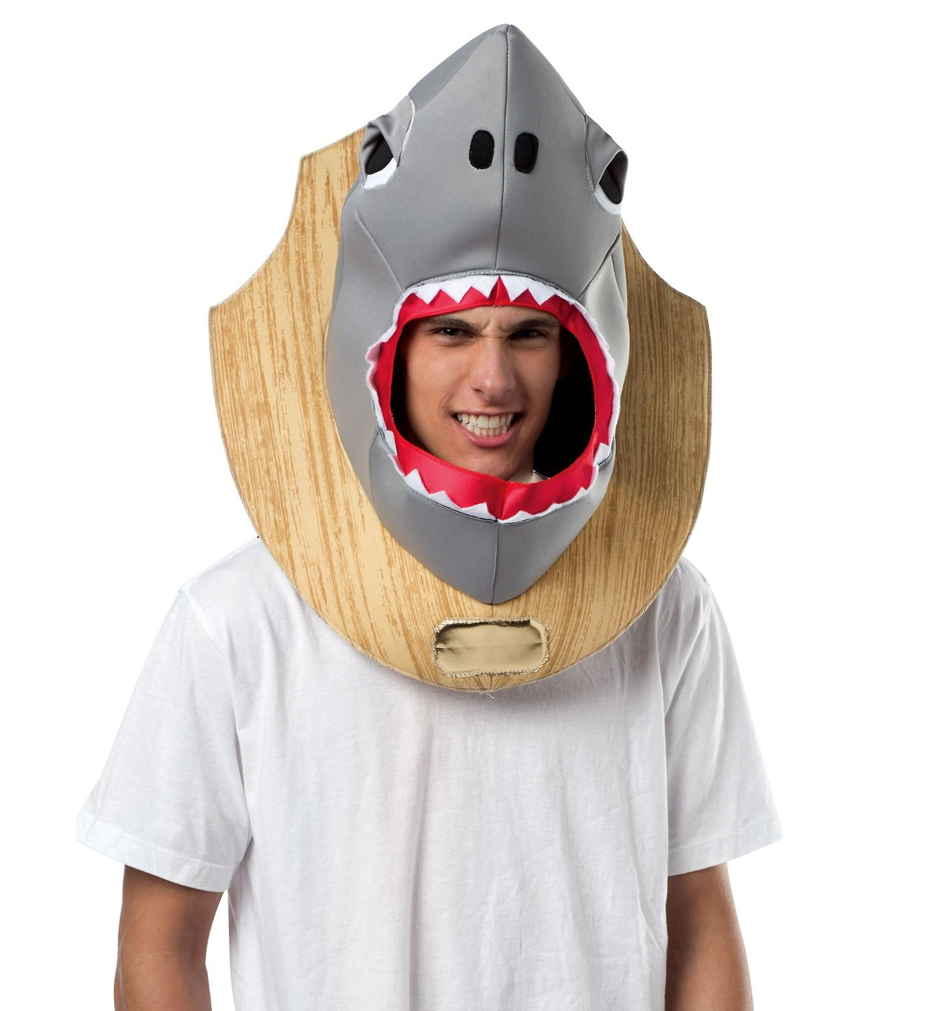 Shark Trophy Köpfe Kopfbedeckungen Fisch Lustige Männer Kostüm
