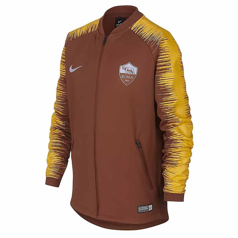 2018 2019 AS Roma Nike Anthem Jacke (Mars Stein) Kinder