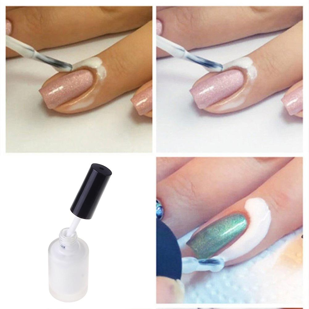 White Nail Peel Off Liquid Tape Nail Art Decoration 15ml Very Easy To Peel Off