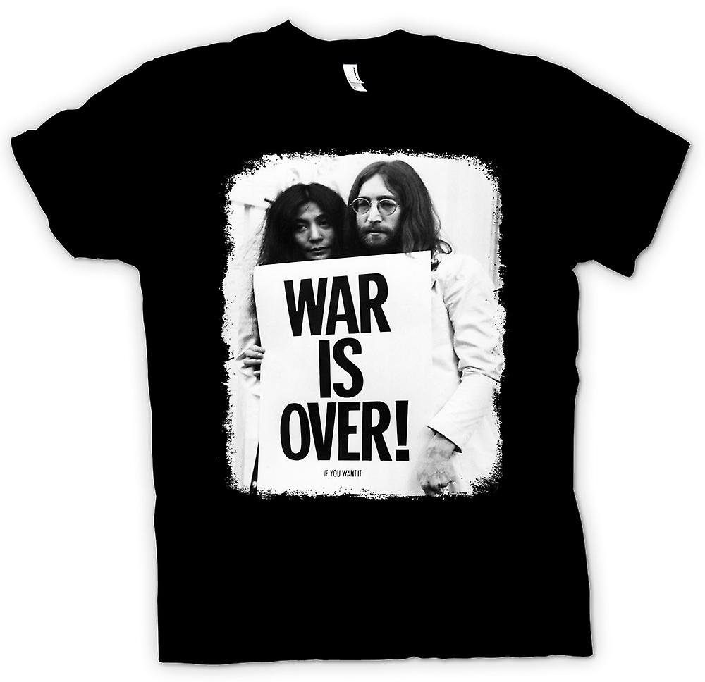 Kids t skjorte John Lennon & Yoko krigen er Over