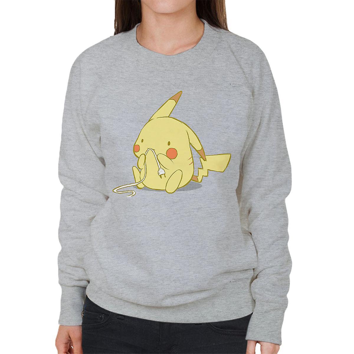 Cute Pika Pikachu Pokemon Women s Sweatshirt  862a08d8f