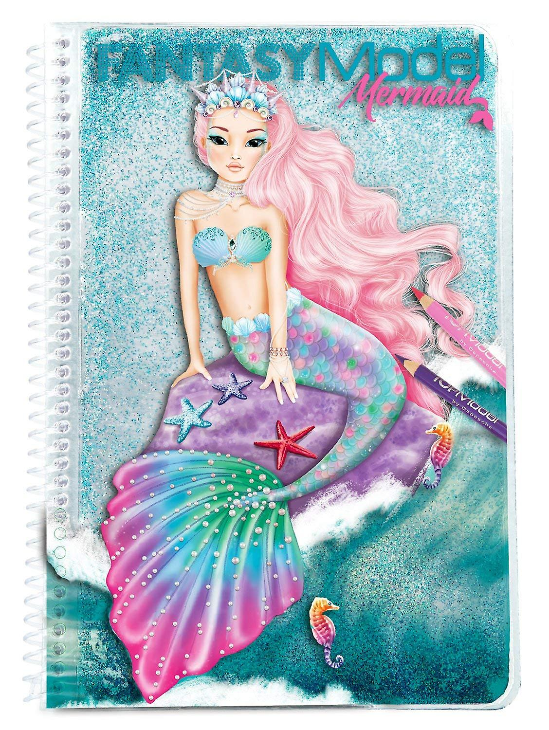 Topmodel 10036 Fantasy Model Colouring Book Mermaid Fruugo