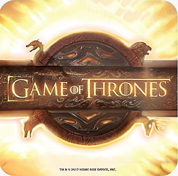 Game Of Thrones Opening Logo Cork Backed Drinks Mat / Coaster