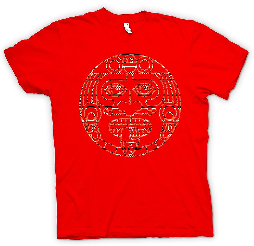 0e9dc51a6 Mens T-shirt - Aztec Tribal Tongue Tattoo   Fruugo