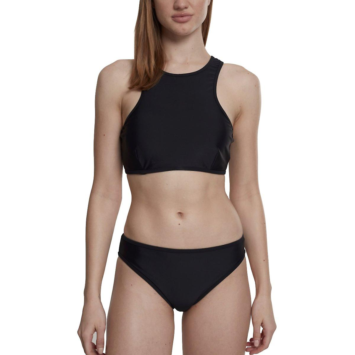 Urban classics ladies - SURFER swimwear bikini black  55442cade