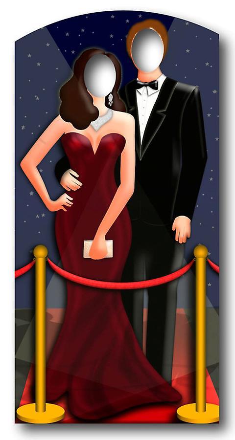 2eb2cf6bd53 Röda mattan / Hollywood par står i - Lifesize kartong släppandet / stående