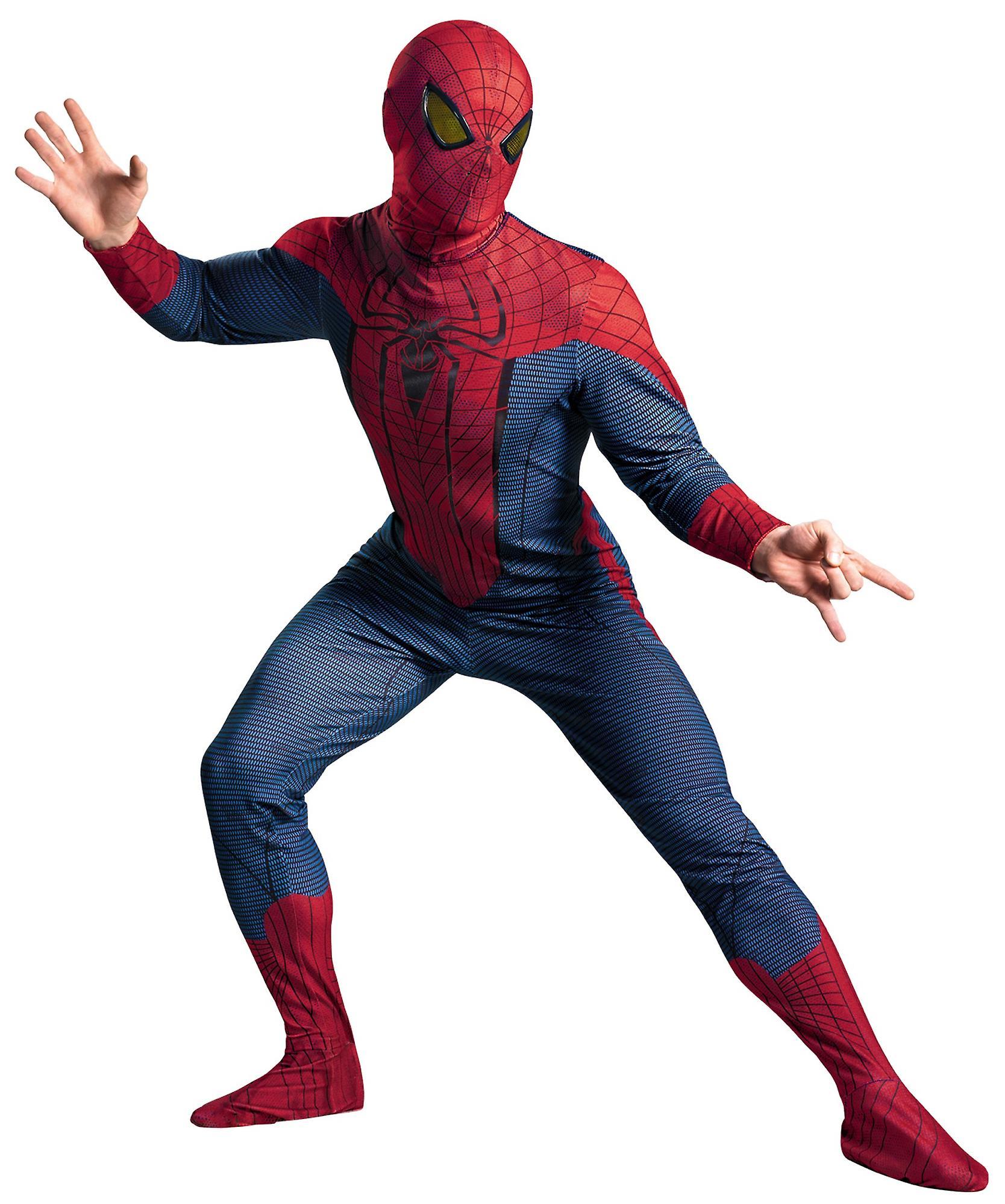 64f8009ed0b I Amazing Spider-Man Deluxe Marvel Superhero Comic Con män kostym XL ...