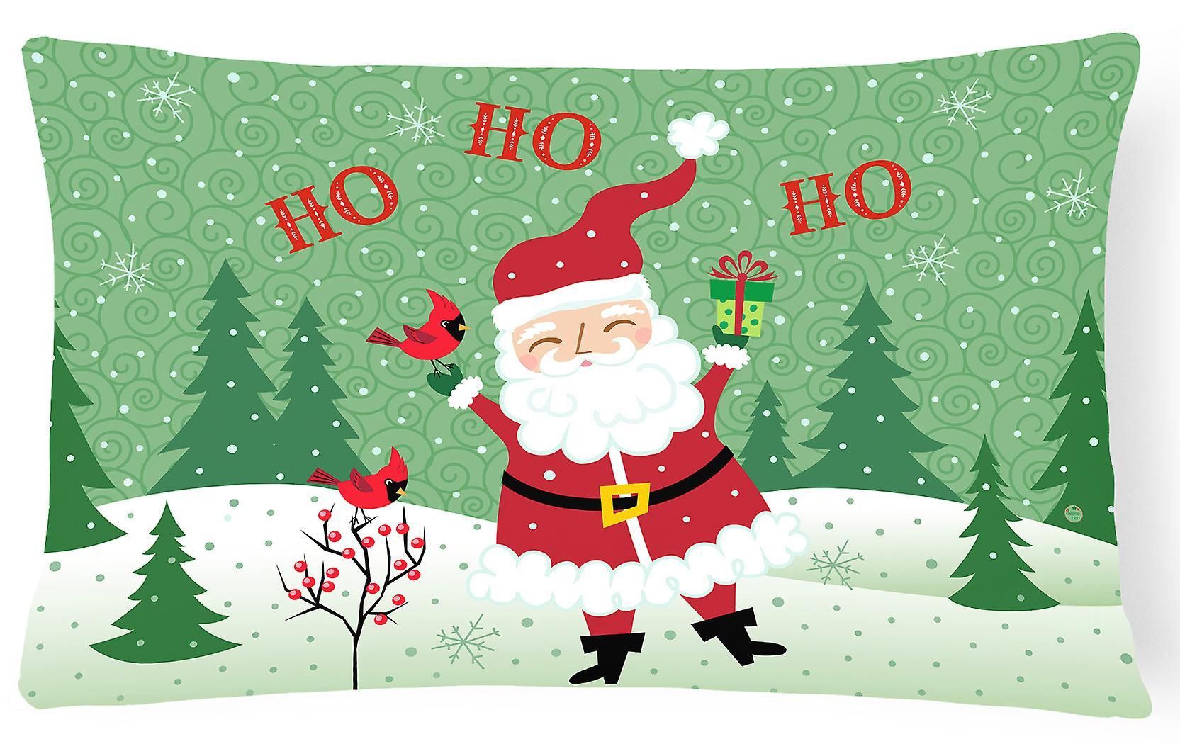 Ho Ho Ho Frohe Weihnachten.Frohe Weihnachten Santa Claus Ho Ho Ho Fabric Dekorative Kissen