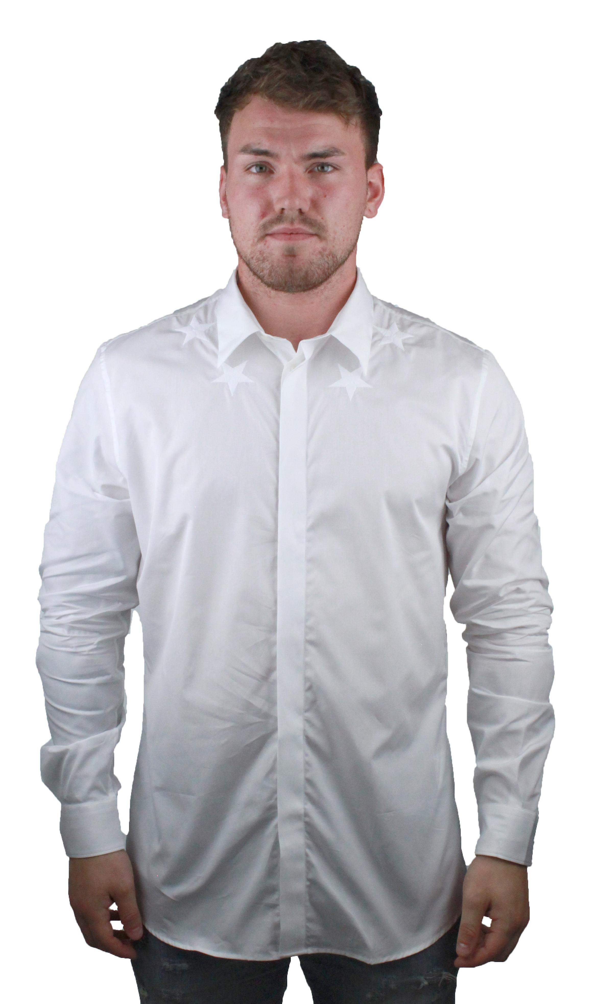 new product d095a 3ff6a Givenchy BM601C1Y39 100 Herren weißes Hemd