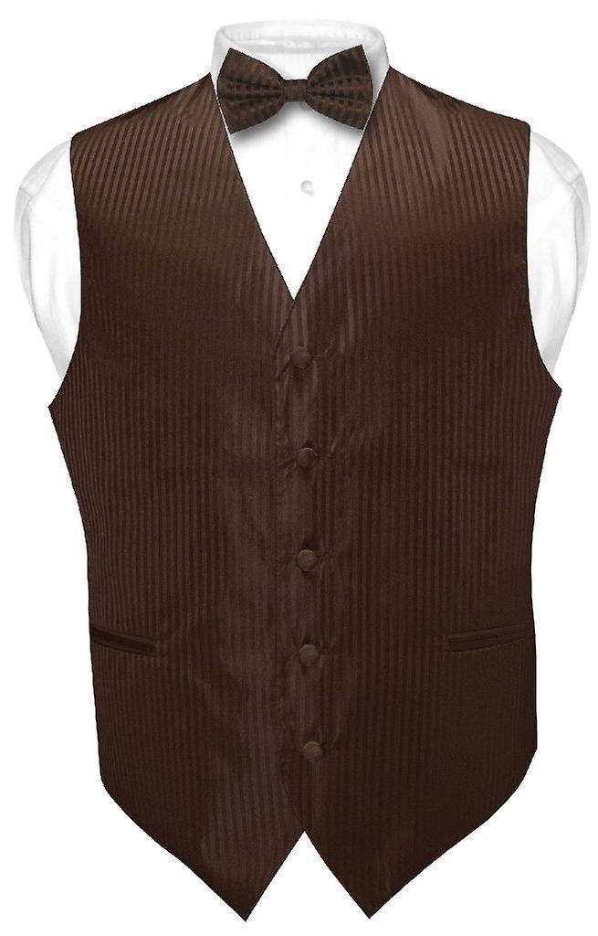 8aa166dac981 Men's Dress Vest & BOWTie Striped Design Bow Tie Set | Fruugo