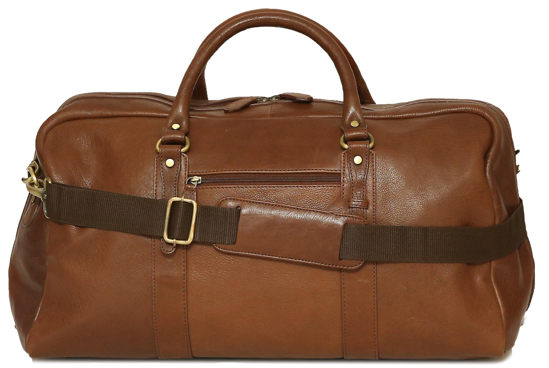 75804113bf Felda Genuine Leather Holdall Duffel Bag - Cabin Hand Luggage
