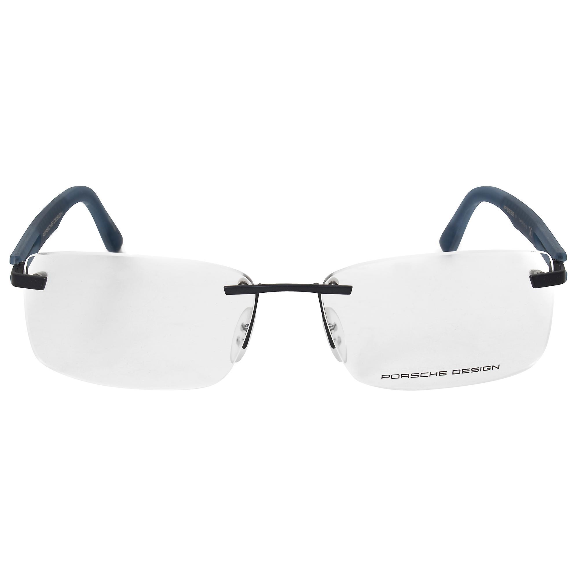 Porsche Design P8232 D Rectangular | Matte Silver Blue| Eyeglass ...