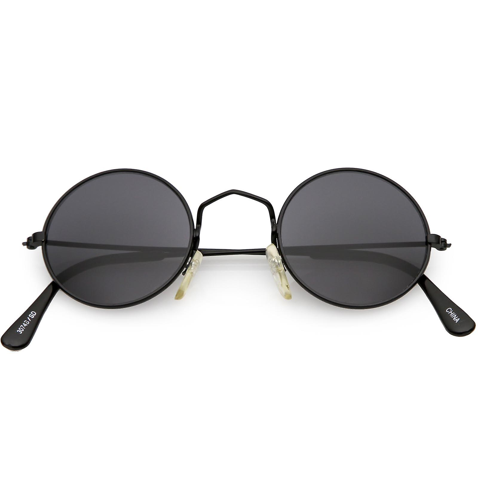 True Vintage Small Thin Frame Circle Sunglasses Neutral Colored Lens 42mm 3acb4824d7266