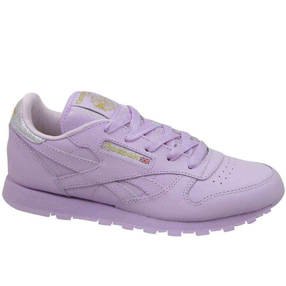 8b73ea379 Reebok Classic Leather Metallic BD5543 universal all year kids shoes ...