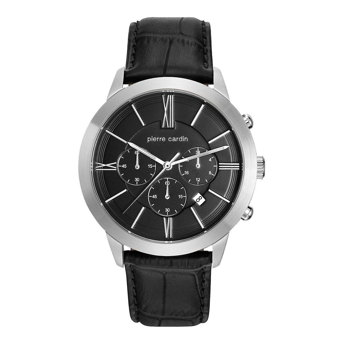 buy online look out for buying cheap Pierre Cardin mens montre montre cuir Chrono Couture PC105891F10