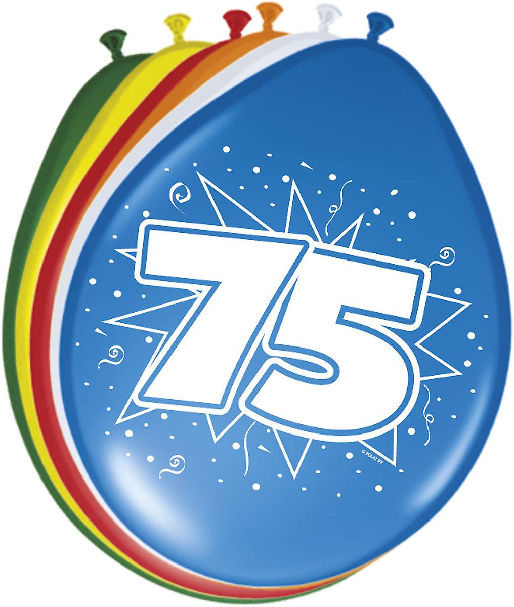 Colorful Balloons Balloon Number 75 Birthday 8 St Decoration Party