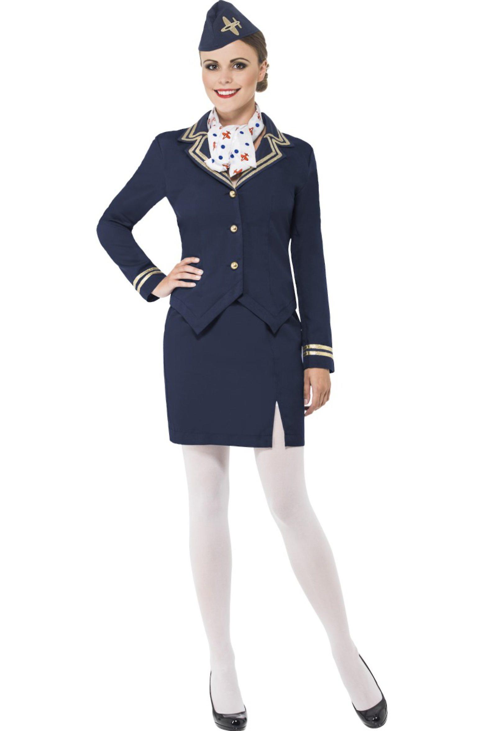 cb4c2f1a Kvinder kostumer stewardesse fancy kjole kostume xl   Fruugo