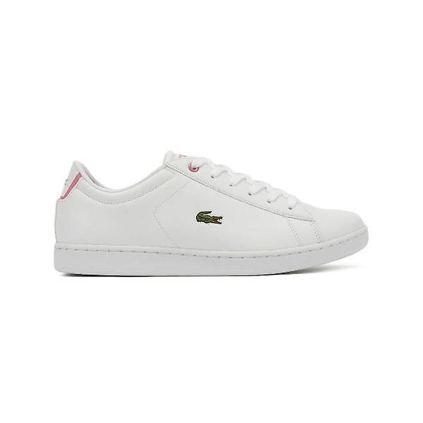 Lacoste Carnaby EVO BL 2 Junior White   Pink Trainers   Fruugo 0c8b507646